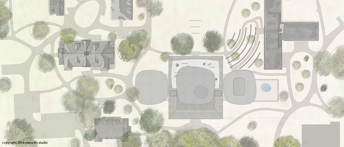Maya Lin design for New Neilson Library siteplan