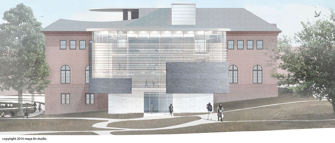 Maya Lin design for New Neilson Library south elevation