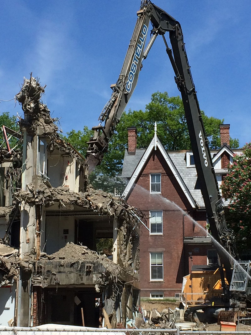 South site demolition work