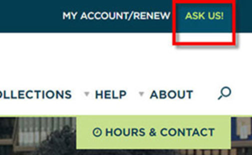 Ask Us! button