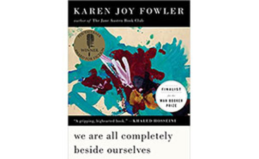 """book cover """"We are all completely beside ourselves"""" by Karen Joy Fowler"""