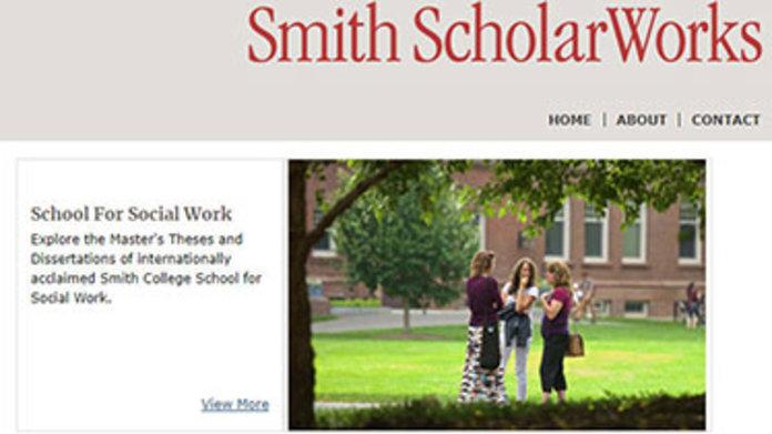 Screenshot of Scholarworks