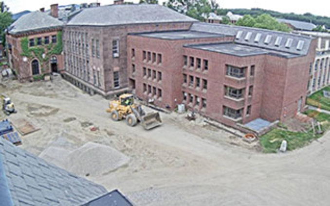 Screenshot of live webcam of Neilson Library north