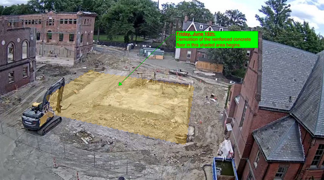 Neilson Library construction site