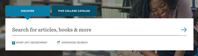 New Discover search box on libraries' homepage