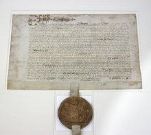Elizabethan seal on document