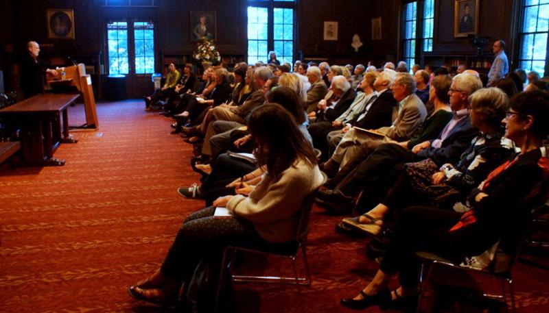Audience at Werner Gundersheimer talk